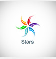 star colorful spin logo vector image