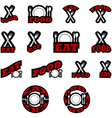 Eat and food icons vector image vector image