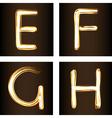 Fireshow font vector image vector image