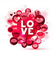 Abstract of love symbols vector image