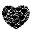 black hearts isolated vector image