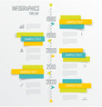 Diagram and Time Line design vector image
