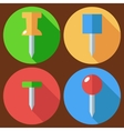 drawing pin set flat vector image