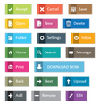 Elegant web icon buttons vector image