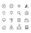 Map icons and Location icons vector image