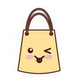 paper gift bag kawaii character vector image