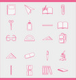 set school tools patches decoration to education vector image