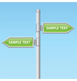 two green road arrow signs vector image