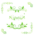 set floral green bf vector image vector image