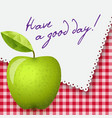 gingham tablecloth background napkin with words vector image
