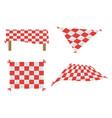 set blanket picnic tablecloth image vector image