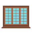 wooden brown tricuspid window icon isolated vector image