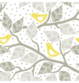 Pastel bird print patterns vector image