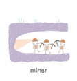 miner looking minetaly vector image vector image