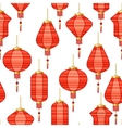 Chinese New Year seamless pattern with lanterns vector image vector image