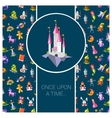 postcard with fairy tales flat vector image