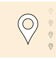 icon of geo position pin vector image