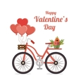 Valentines day lovely card graphic design vector image
