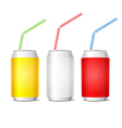 Collection of colorful steel cans vector image