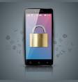 digital gadget smartphone tablet key lock icon vector image