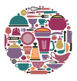 dishes cooking utensils and cutlery vector image
