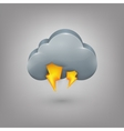 Icon weather Cloud lightning vector image