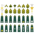 Insignia of the US Army vector image