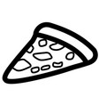 isolated pizza icon vector image