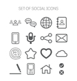 Set of simple social monochromatic icons vector image