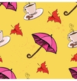 umbrella coffee leaf vector image