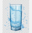 water splashes around a transparent glass vector image