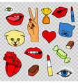 Sticker patch set collection vector image