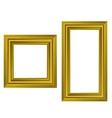Set of Gold Wooden Frames vector image