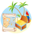 treasure island poster vector image