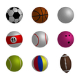Collection of sport ball vector image