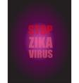 Zika Virus as a Danger Concept Art vector image vector image