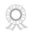 award ribbon isolated vector image