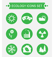 Ecology Logo Icons Set vector image