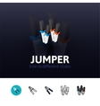 Jumper icon in different style vector image