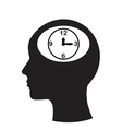 Man and thinking and time vector image