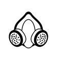 outline mask and respirator protective equipment vector image