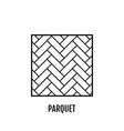 parquet flooring flat icon object vector image