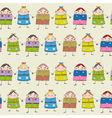 seamless children backgraund vector image