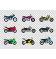 Set of Motorcycle Design Flat Style vector image