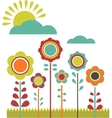 spring sale flower field vector image