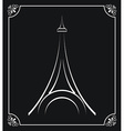 tower eiffel design vector image
