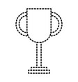 Trophy award winner competition icon vector image