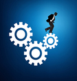 Worker in the rat race graphic vector image