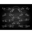 Chalk ribbons on blackboard vector image