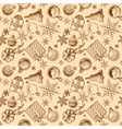 vintage Christmas background seamless tiling vector image